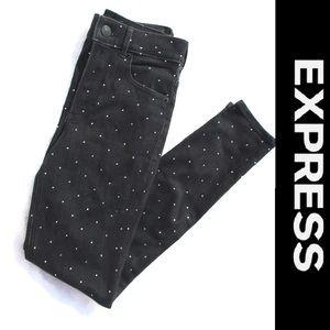Express Crystal Embellished Black Jeans